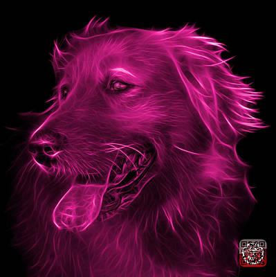 Digital Art - Pink Golden Retriever - 4057 Fs by James Ahn
