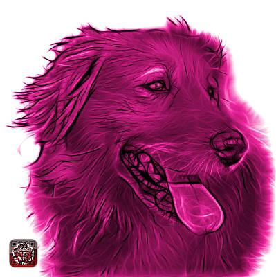 Digital Art - Pink Golden Retriever - 4057 Wb by James Ahn