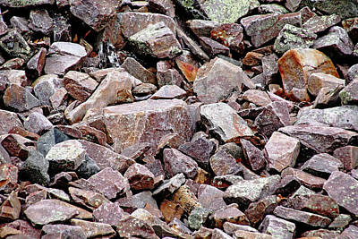 Photograph - Pink Granite Rock Abstract by Debbie Oppermann