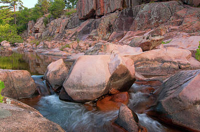Photograph - Pink Granite Shutins by Steve Stuller