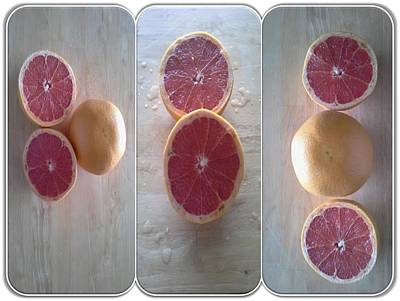 Grapefruit Digital Art - Pink Grapefruit Combo by LaVerne Iverson