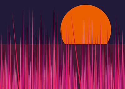 Digital Art - Pink Grass by Val Arie