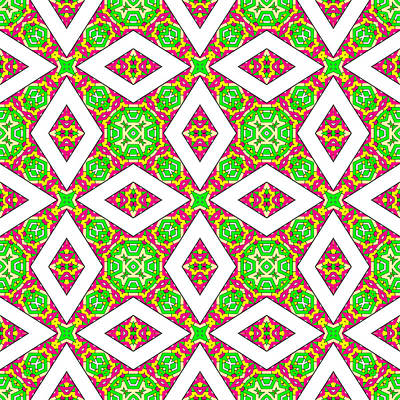 Digital Art - Pink Green And Yellow Abstract Print 05 by Ruth Moratz
