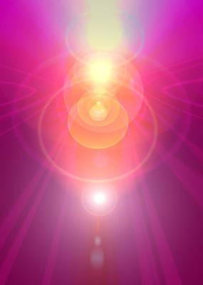 Seraphim Angel Digital Art - Pink Guardian-angel by Ramon Labusch