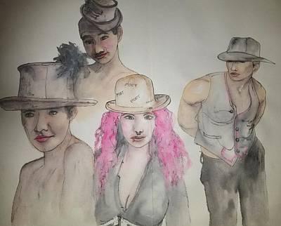 Painting - Pink Hair  by Debbi Saccomanno Chan