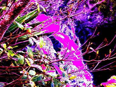 Digital Art - Pink Hana Waterfall Trip by Erika Swartzkopf