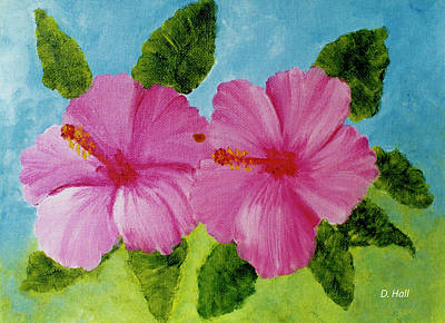 Pink Hawaiian Hibiscus Flower #23 Art Print by Donald k Hall