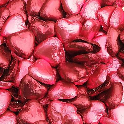 Photograph - Pink Heart Chocolates II by Helen Northcott