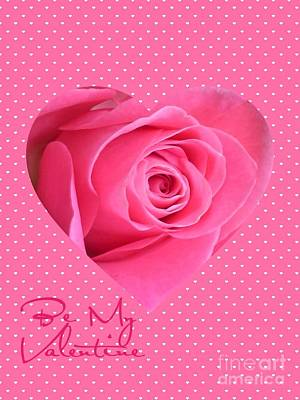 Photograph - Pink Heart Valentine by Joan-Violet Stretch