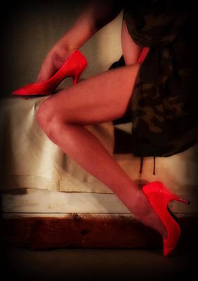Photograph - Pink Heels And A Nice Box by Guy Pettingell