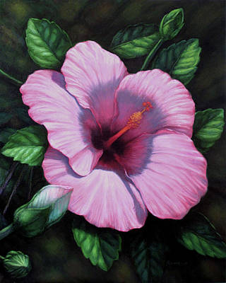 Painting - Pink Hibiscus II by Rita Romero