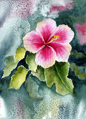 Hibiscus Flower Painting - Pink Hibiscus by Marsha Elliott