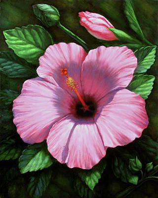 Painting - Pink Hibiscus by Rita Romero