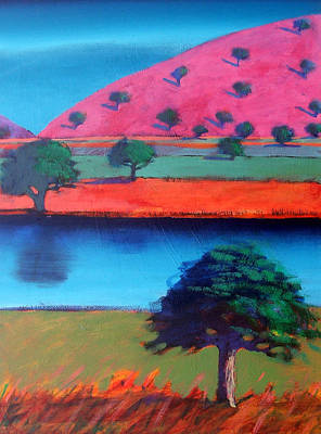 Vivid Colour Painting - Pink Hill Two by Paul Powis