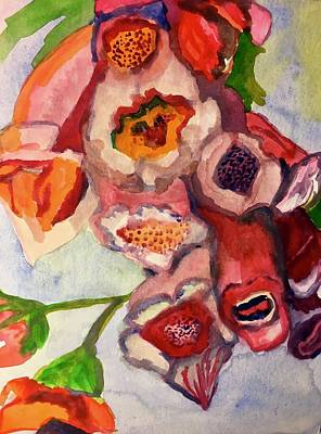 Holly Hocks Painting - Pink Holly by Kimberly Balentine