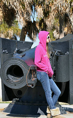 Photograph - Pink Hoodie And Black Canon by Rose  Hill