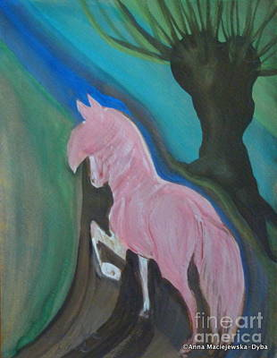 Pink Horse Art Print