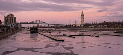 Montreal Photograph - Pink Hour In Icy Port by Pierre D'Amours