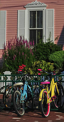 Photograph - Pink House Bikes Cape May Nj by Terry DeLuco