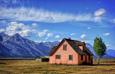 Photograph - Pink House In Grand Tetons by Carolyn Derstine