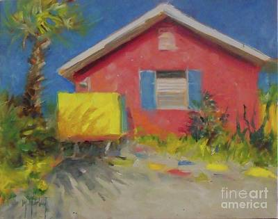 Painting - Pink House by Mary Hubley