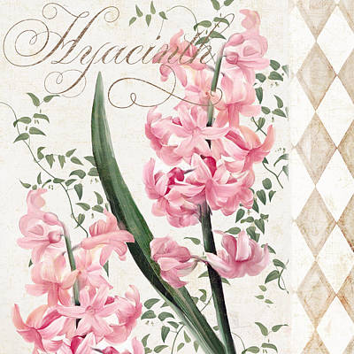 Hyacinth Painting - Pink Hyacinth by Mindy Sommers