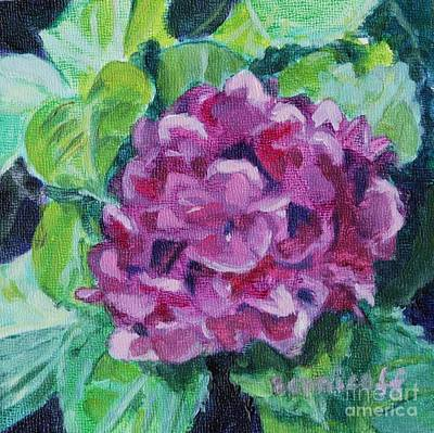 Painting - Pink Hydrangea by Jan Bennicoff