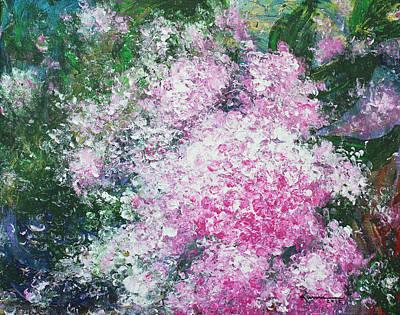 Painting - Pink Hydrangeas by Kume Bryant