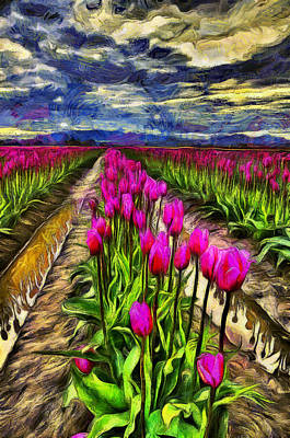 Fields Of Flowers Photograph - Pink Impression 2 by Mark Kiver