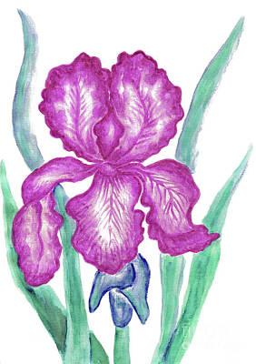 Painting - Pink Iris by Irina Afonskaya