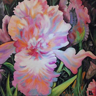 Painting - Pink Iris by Lindi Levison