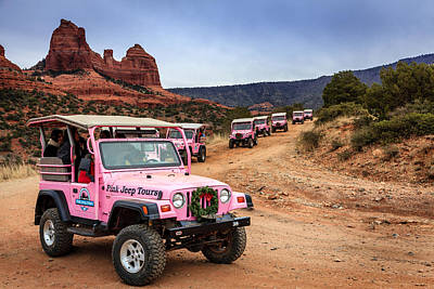 Photograph - Pink Jeep Tours by Alexey Stiop