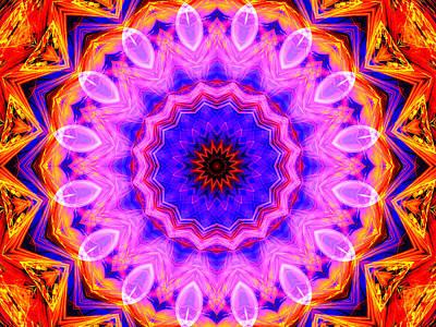 Pink Kaleidoscope Art Print