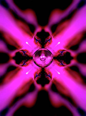 Digital Art - Pink Kaleidoscope Music Speaker  by Steve Ball