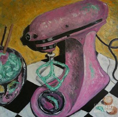 Pink Kitchenaid Art Print by Sherri Bramlett