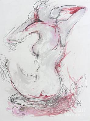 Drawing - Pink Lady by Marat Essex