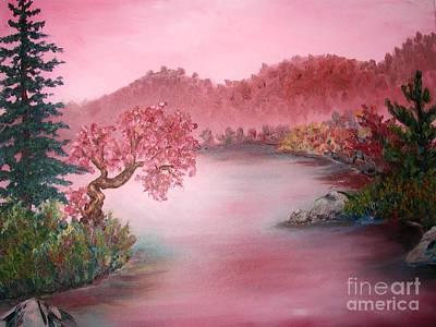 Pink Lake Print by Emily Michaud