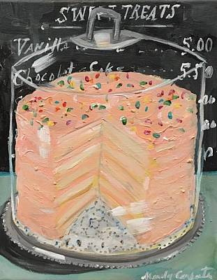 Painting - Pink Layer Cake by Mindy Carpenter