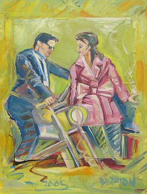 Painting - Pink Leather Moto by John Keaton
