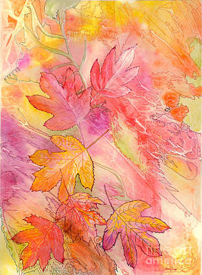 Pink Leaves Art Print