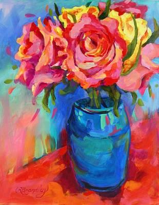 Painting - Pink Lemonade Roses by Chris Brandley