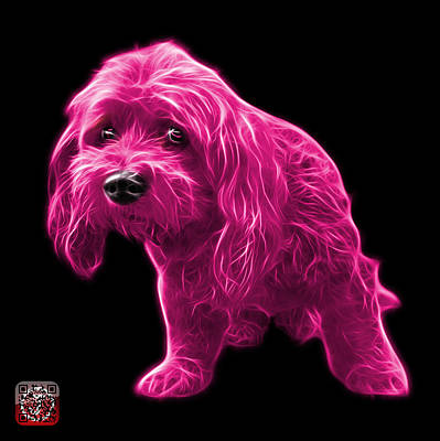 Painting - Pink Lhasa Apso Pop Art - 5331 - Bb by James Ahn