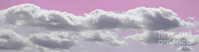 Photograph - Pink Light In Clouds Panorama by Donna L Munro