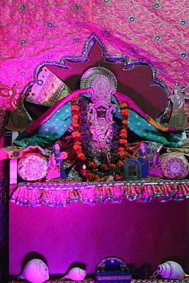 Puja Photograph - Pink Light Temple, Vrindavan by Jennifer Mazzucco