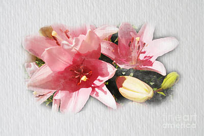 Photograph - Pink Lilies by Eddie Lee