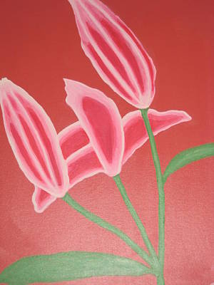 Rocca Painting - Pink Lillies by Sarah England-Rocca