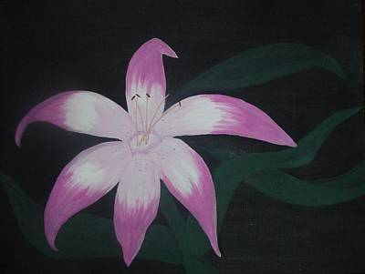Pink Lily Art Print by Melanie Blankenship
