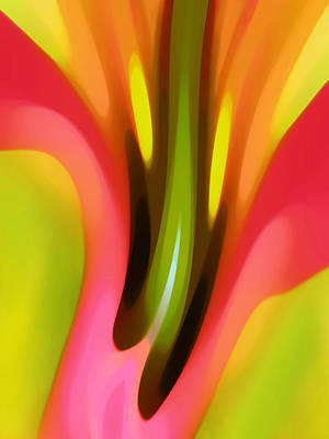 Painting - Pink Lily Vertical by Amy Vangsgard