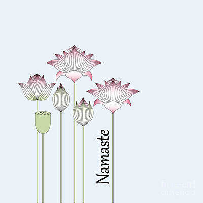Pink Lotus Flowers Art Print by Wind-Up Sprout Design