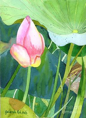 Painting - Pink Lotus by Yolanda Koh